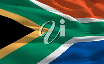 Royalty Free Clipart Image of the South African Flag