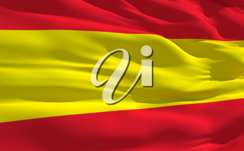 Royalty Free Clipart Image of the Flag of Spain