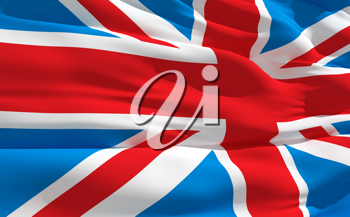 Royalty Free Clipart Image of the United Kingdom Flag