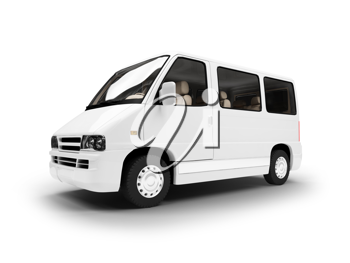 Royalty Free Clipart Image of a White Van