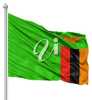 Royalty Free Clipart Image of the Flag of Zambia