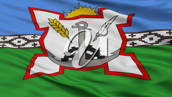 Bahia Blanca City Flag, Country Argentina, Closeup View, 3D Rendering