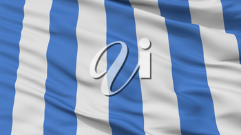 Mar Del Plata City Flag, Country Argentina, Closeup View, 3D Rendering