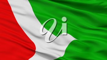 Obera City Flag, Country Argentina, Closeup View, 3D Rendering