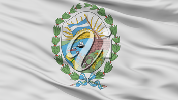 Rosario City Flag, Country Argentina, Closeup View, 3D Rendering