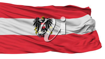 Austria State Flag, Isolated On White Background, 3D Rendering
