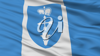Luniniec City Flag, Country Belarus, Closeup View, 3D Rendering