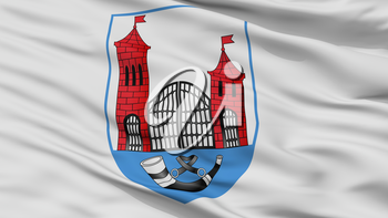 Skidal City Flag, Country Belarus, Closeup View, 3D Rendering