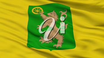 Le Roeulx City Flag, Country Belgium, Closeup View, 3D Rendering