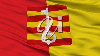 Lessines City Flag, Country Belgium, Closeup View, 3D Rendering