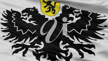 Lo Reninge City Flag, Country Belgium, Closeup View, 3D Rendering
