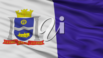 Maua Municipality City Flag, Country Brasil, Sao Paulo, Closeup View, 3D Rendering