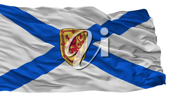 Nova Scotia City Flag, Country Canada, Isolated On White Background, 3D Rendering