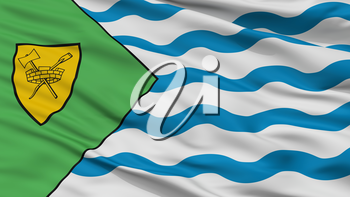 Vancouver City Flag, Country Canada, Closeup View, 3D Rendering