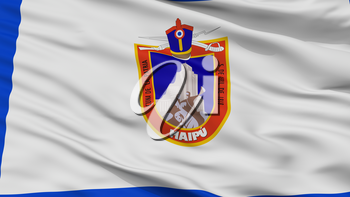 Maipu City Flag, Country Chile, Closeup View, 3D Rendering