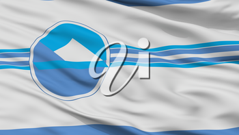 Puerto Varas City Flag, Country Chile, Closeup View, 3D Rendering