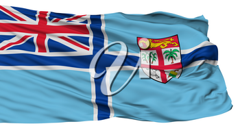 Civil Air Ensign Of Fiji Flag, Isolated On White Background, 3D Rendering