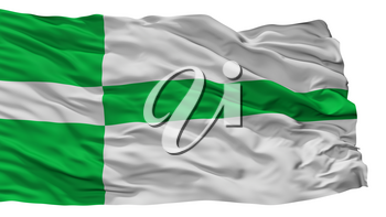 Paide City Flag, Country Estonia, Isolated On White Background, 3D Rendering