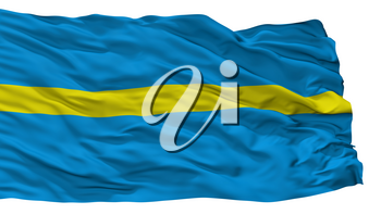 Rakvere City Flag, Country Estonia, Isolated On White Background, 3D Rendering
