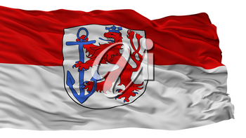 Duesseldorf City Flag, Country Germany, Isolated On White Background, 3D Rendering