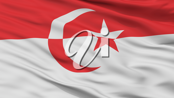 Islamic State Of Indonesia Flag, Closeup View, 3D Rendering