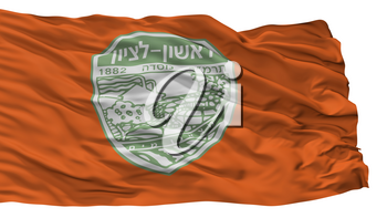 Rishon Lezion City Flag, Country Israel, Isolated On White Background, 3D Rendering