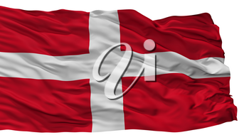 Como City Flag, Country Italy, Isolated On White Background, 3D Rendering