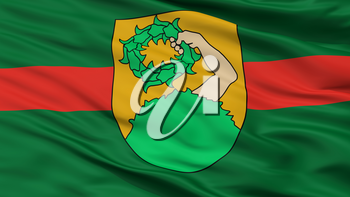 Talsi City Flag, Country Latvia, Closeup View, 3D Rendering