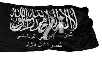 Turkistan Islamic Party In Syria Flag, Isolated On White Background, 3D Rendering