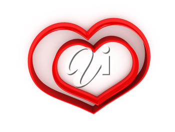 Royalty Free Clipart Image of Hearts