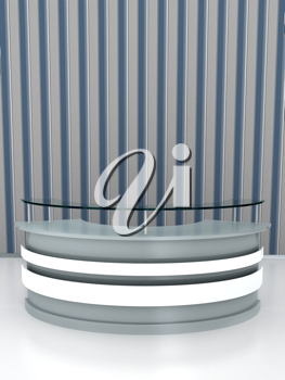 Royalty Free Clipart Image of a Reception Desk