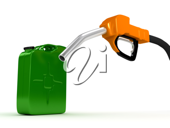 Royalty Free Clipart Image of a Gas Pump and Jerrycan
