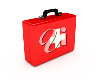 Royalty Free Clipart Image of a Red Medical Case