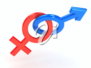 Royalty Free Clipart Image of Gender Symbols