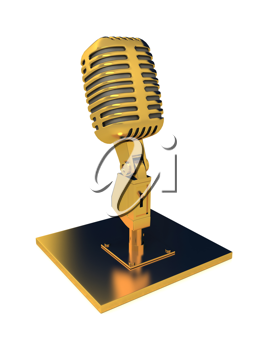 Royalty Free Clipart Image of a Retro Microphone