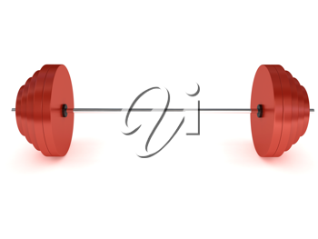 Royalty Free Clipart Image of a Barbell