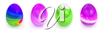 Royalty Free Clipart Image of Colorful Eggs