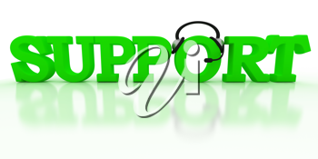 Royalty Free Clipart Image of the Word Support