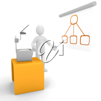 Royalty Free Clipart Image of a Person Giving a Presentation