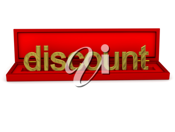 Royalty Free Clipart Image of the Word Discount in a Box