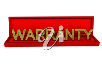 Royalty Free Clipart Image of the Word Warranty