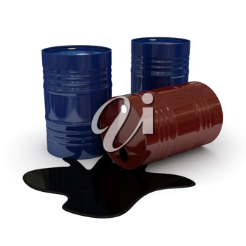 Royalty Free Clipart Image of Fuel Drums