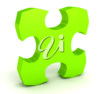 Royalty Free Clipart Image of a Puzzle Piece