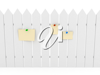 Royalty Free Clipart Image of a White Fence