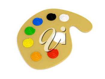 Royalty Free Clipart Image of a Paint Palette
