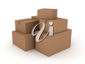 Royalty Free Clipart Image of Boxes