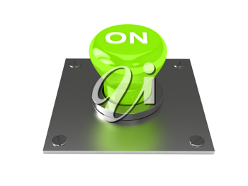 Royalty Free Clipart Image of a Button