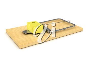 Royalty Free Clipart Image of a Mousetrap
