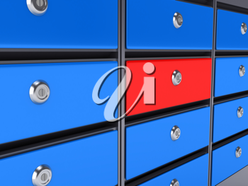 Royalty Free Clipart Image of Postal Office Boxes