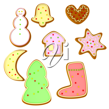 Royalty Free Clipart Image of Christmas Cookies